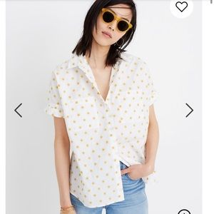 Madewell Sun Embroidered Courier Shirt